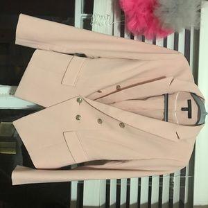 WHBM Suit Jacket/Blazer Light Pink